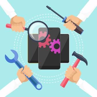 Mobiel dienstverleningsconcept