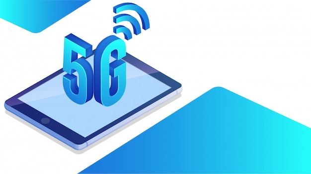 Mobiel internet 5g netwerkdienstconcept.