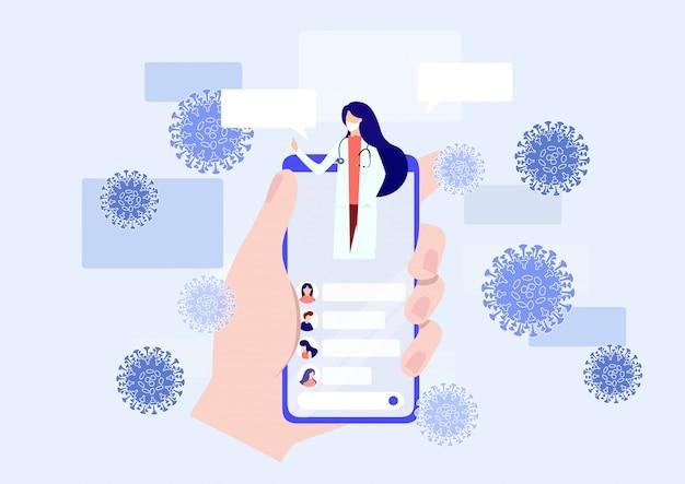 Mobiel medisch dienstverleningsconcept. vector illustratie