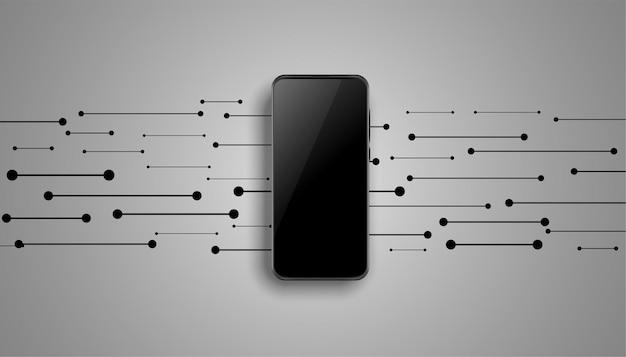 Mobiel modelontwerp met lijnen erin