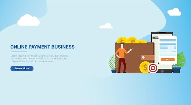 Mobiel online betaaltechnologie website-ontwerp