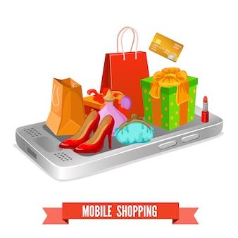 Mobiel winkelen ontwerp