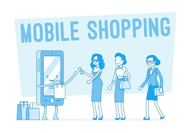Mobiel winkelen voor vrouwen