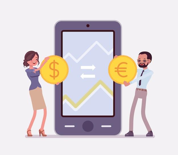 Mobiel wisselen van valuta