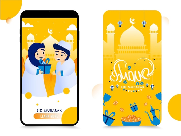 Mobiele achterkant en afbeelding op het voorscherm