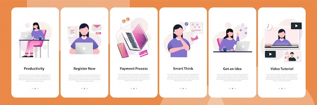 Mobiele app concept
