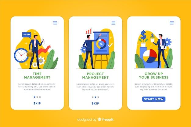 Mobiele app-concept