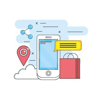 Mobiele app-technologie sociale media