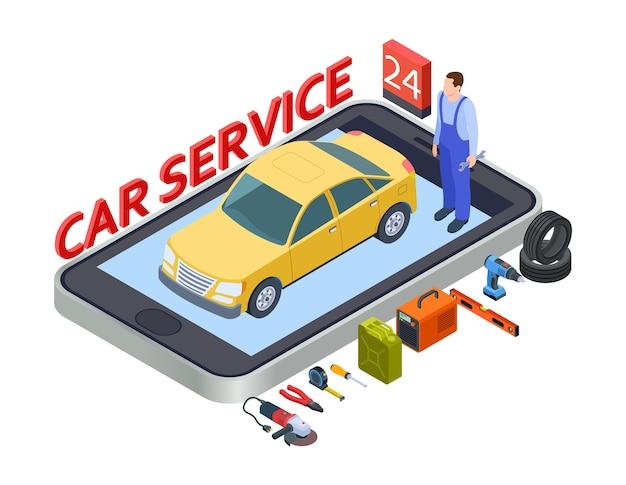 Mobiele app voor autodiensten