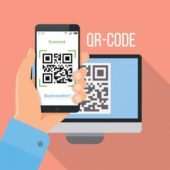 Mobiele app voor het scannen van qr-code.