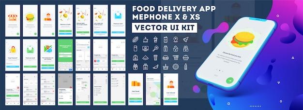 Mobiele app voor voedselbezorging.