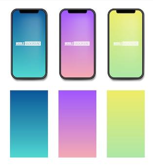 Mobiele app zachte kleurenachtergrond.