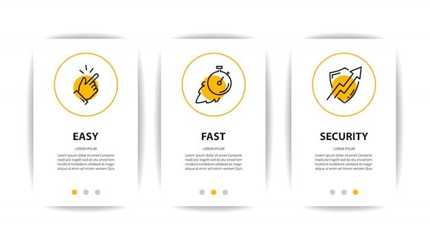 Mobiele applicatie scherm met zakelijke pictogram