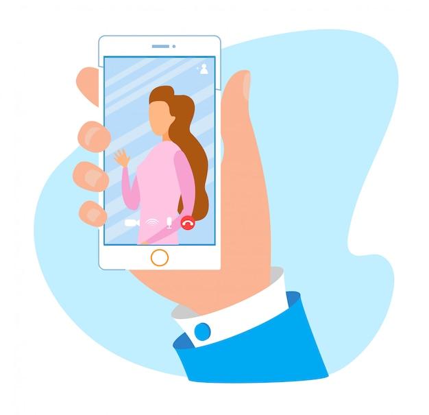 Mobiele applicatie voor videogesprek en chatadvertentie