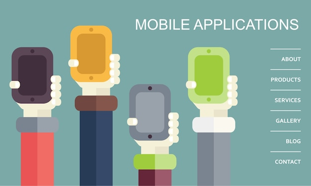 Mobiele applicaties concept