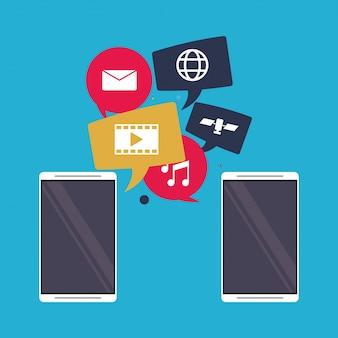 Mobiele applicaties delen sociale media-interface