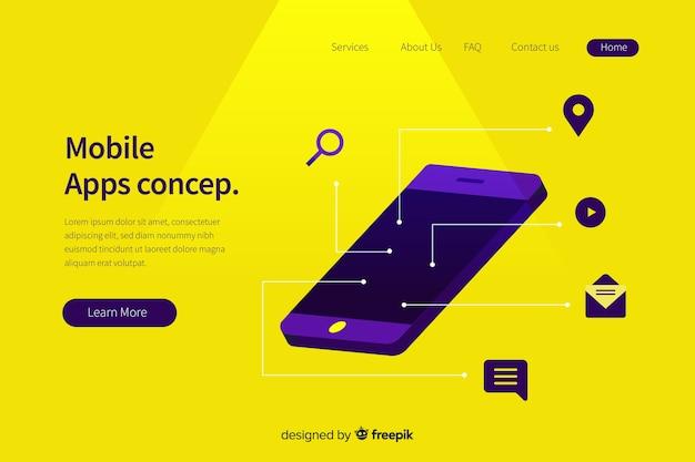 Mobiele apps concept illustratie
