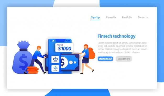 Mobiele bank-apps met overschrijvingen en stortingen