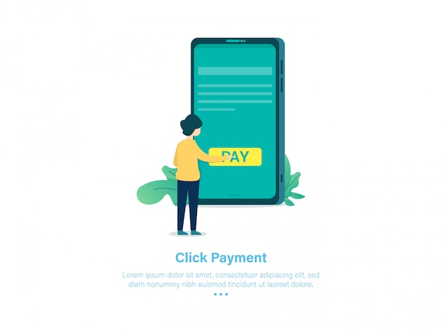Mobiele betaalmethode illustratie