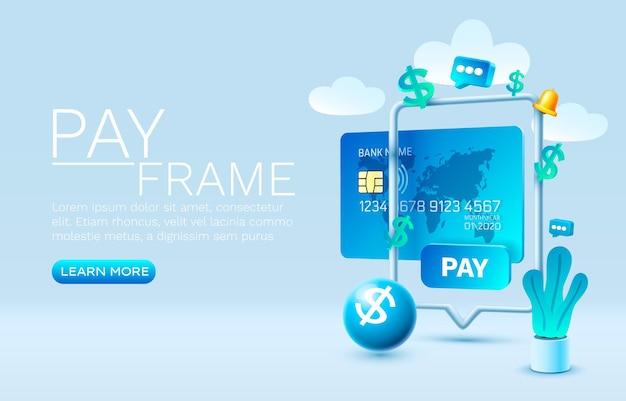 Mobiele betaalservice financiële betaling smartphone mobiele schermtechnologie mobiele weergavevector