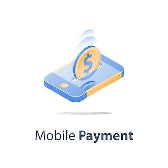 Mobiele betaling illustratie