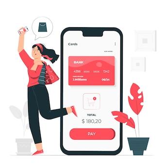 Mobiele betalingen concept illustratie