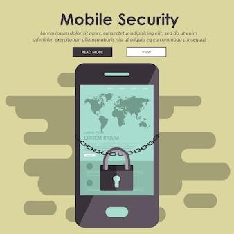 Mobiele beveiliging, gegevensbeveiligingsconcept