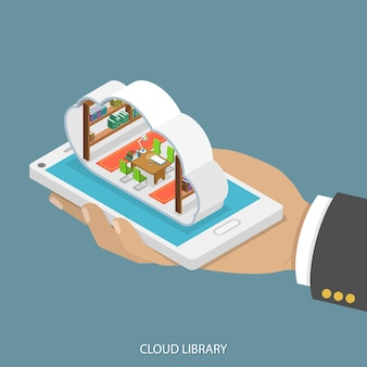 Mobiele cloudbibliotheek.
