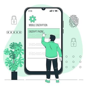 Mobiele codering concept illustratie