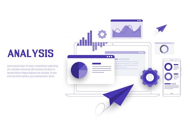 Mobiele data-analyse, onderzoek, planning en statistieken