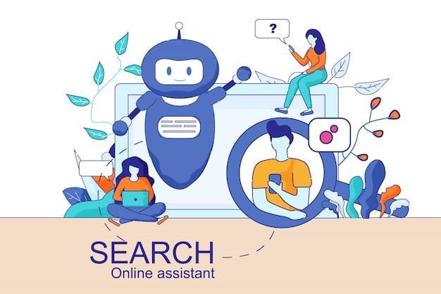 Mobiele en pc smart search online-assistent
