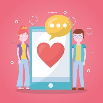 Mobiele liefde gerelateerd