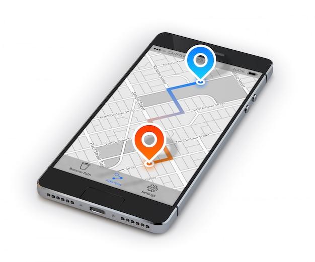 Mobiele navigatie voor smartphones