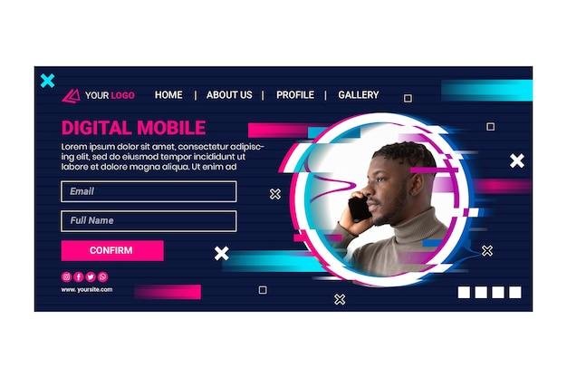 Mobiele tech websjabloon
