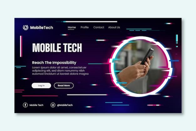 Mobiele technologie bestemmingspagina