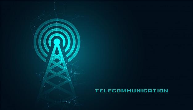 Mobiele telecommunicatidigital torenachtergrond