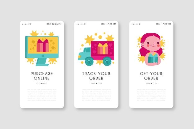 Mobiele telefoon-app voor het online kopen van producten