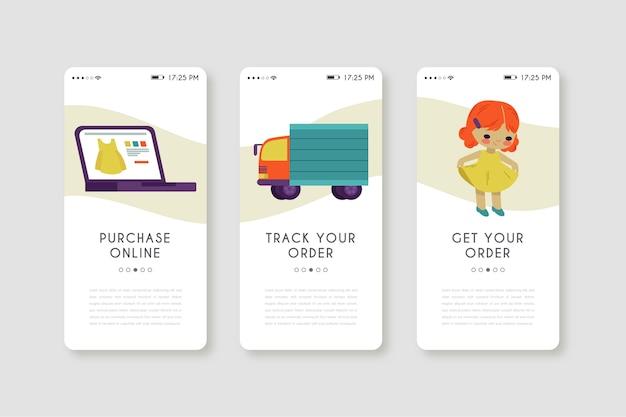 Mobiele telefoon-app voor online aankoop