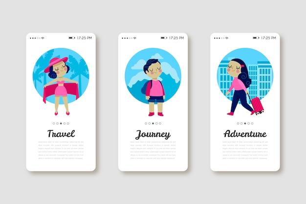 Mobiele telefoon-app voor op reis en ontdekking