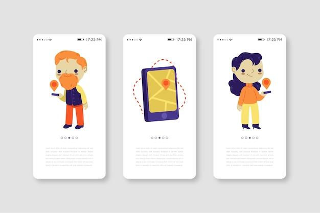 Mobiele telefoon-app voor taxiservice