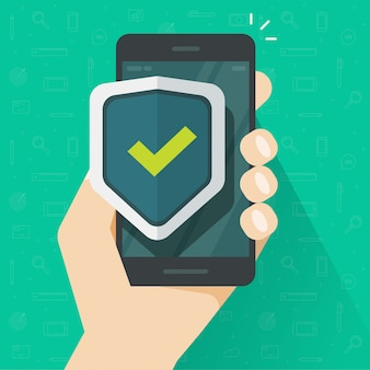 Mobiele telefoon beveiliging of mobiele telefoon bescherming en bewaken veilige technologie