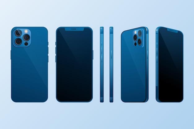 Mobiele telefoon in verschillende perspectieven