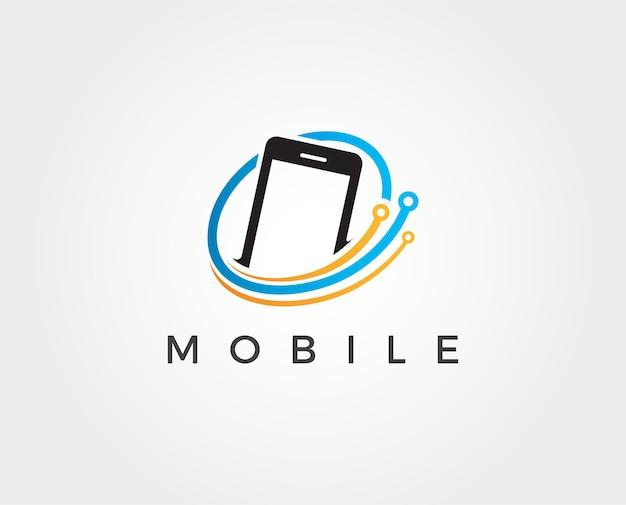 Mobiele telefoon logo ontwerpsjabloon logo
