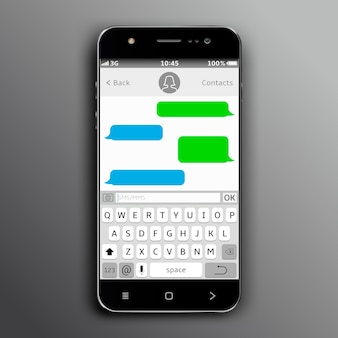 Mobiele telefoon met chat-app