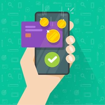Mobiele telefoon met geldbonusbeloning