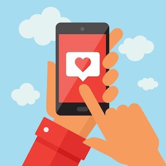 Mobiele telefoon met vergelijkbaar symbool