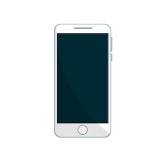 Mobiele telefoon ontwerp in het wit