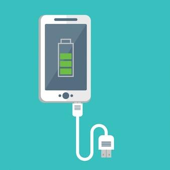 Mobiele telefoon opladen ontwerp