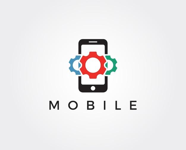 Mobiele telefoon vector logo sjabloon concept illustratie
