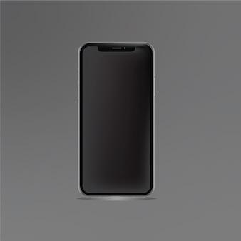 Mobiele telefoon vector sjabloon grijze blackground